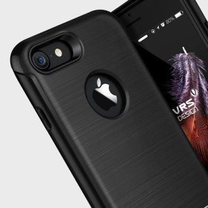 Protect your iPhone 7 with this precisely designed case in black from VRS Design. Made with tough, durable yet slim materials, this hardshell construction with shock absorbent core follows the curves of your phone perfectly.