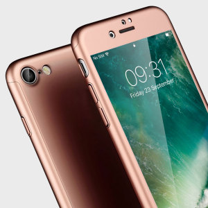 Full front, back and screen protection is as easy as 1-2-3 with the Olixar X-Trio in rose gold. With a slimline shell for the back and front that clips together seamlessly and a tempered glass screen protector, your iPhone 7 is fully encased and safe.