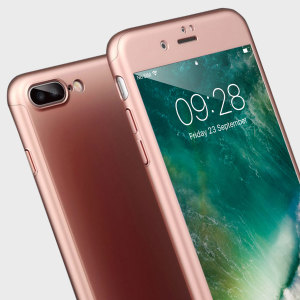 Olixar X-Trio Full Cover iPhone 7 Plus Case - Rose Gold