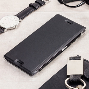 Roxfit Premium Sony Xperia XZ Book Case - Black / Clear