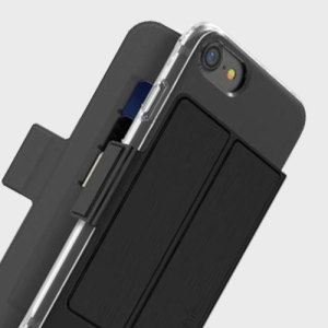 This sleek, attractive attachment to your Mophie Base Case transforms your iPhone 7 into a card holder, ideal for carrying cards, cash or ID. The Folio attaches to the Base Case magnetically, meaning it looks great and feels secure.