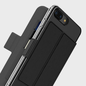This sleek, attractive attachment to your Mophie Base Case transforms your iPhone 7 Plus into a card holder, ideal for carrying cards, cash or ID. The Folio attaches to the Base Case magnetically, meaning it looks great and feels secure.