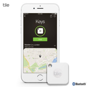 Tile Mate Bluetooth Tracker Device - Four Pack - White