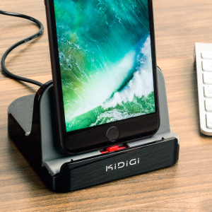 Keep your iPhone X, 8, 8 Plus, 7 and 7 Plus fully charged and ready to go with this small and discreet charge and sync dock with flexible Lightning connector, perfect for use with or without a case.