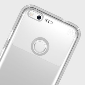 Meet the Speck Presidio - the evolution of the popular CandyShell case. An ultra-rugged clear case made from two different protective layers for the Google Pixel from Speck. Features enhanced drop protection, 100% clear finish and reduced bulk.
