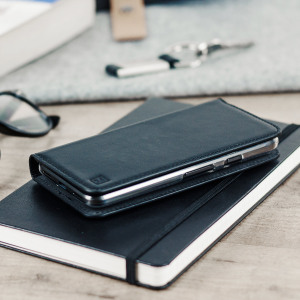 A sophisticated lightweight black genuine leather case. The Olixar genuine leather wallet case offers perfect protection for your Google Pixel XL, as well as featuring slots for your cards, cash and documents.