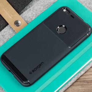 Maak kennis met de nieuw ontworpen robuuste armor case voor de Google Pixel XL. Gemaakt van flexibele, robuuste TPU en voorzien van een mechanisch ontwerp, met inbegrip van een koolstofvezel structuur. De ruige armor sterke case houdt je telefoon veilig en slank