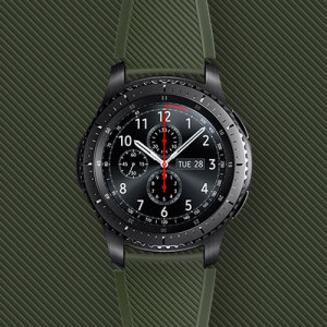 Official Samsung Gear S3 Active Silicon Strap - Khaki