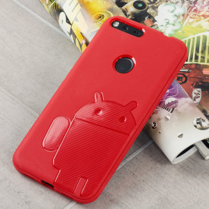 Keep your Google Pixel protected from damage with this Android inspired, durable red coloured TPU case with Robot motif by Cruzerlite.