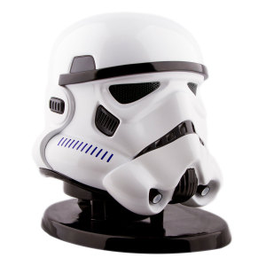 A detailed and almost life-sized head of the iconic Imperial Stormtrooper. Enjoy great sound and great times with the Star Wars Stormtrooper Bluetooth speaker. With light up eyes and awesome sound. This is the speaker you're looking for.