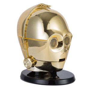 A detailed and almost life-sized head of everybody's favourite protocol droid, C-3PO. Enjoy great sound and great times with the Star Wars C-3PO Bluetooth speaker. With light up eyes and awesome sound. Oh no, we're doomed!
