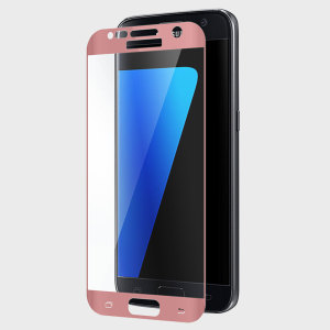 Protection d'écran Verre Trempé Galaxy S7 Zizo Full Body – Or Rose