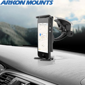 Perfect for GPS navigation or hands-free music listening, Arkon's SM614 Slim-Grip Car Mount combines a versatile universal dash/windscreen mount with a secure, simple spring-loaded holder for your smartphone or tablet.