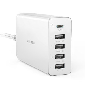 Featuring a dedicated USB-C port as well as a Qualcomm 3.0 socket for ultra-fast charging, this Olixar hub also features three standard USB ports for charging smartphones, tablets and any other USB-enabled device.