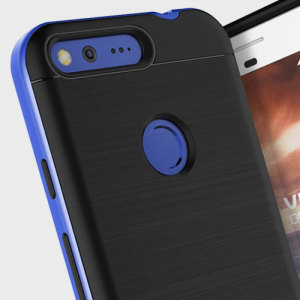 Protect your Google Pixel XL with this precisely designed high pro shield series case in really blue from VRS Design. Made with tough dual-layered yet slim material, this hardshell body with a sleek bumper features an attractive two-tone finish.