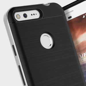 Protect your Google Pixel XL with this precisely designed high pro shield series case in Satin Silver from VRS Design. Made with tough dual-layered yet slim material, this hardshell body with a sleek bumper features an attractive two-tone finish.