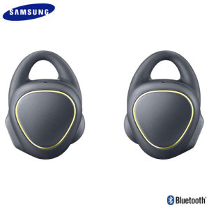 Samsung's Gear IconX wireless sport earphones in black offer huge sound in a lightweight package. Connect the earphones wirelessly to any Bluetooth-compatible device or leave your phone at home and store up to 1000 songs on the earphones themselves.