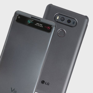 Official LG V20 QuickCover Folio Case - Black