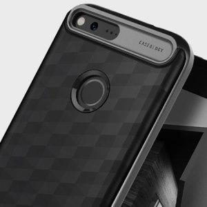 Proteja su Google Pixel XL con esta funda premium de doble capa. Fabricada de un material de doble capa, la funda sigue siendo delgada y ligera. Además incluye un bumper con acabado metálico, con lo que le da un toque mucho más premium.