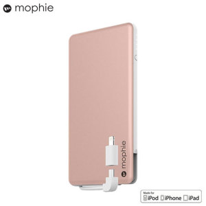 Keep your Micro USB or Lightning devices charged throughout the day with the Mophie Powerstation Plus Mini in rose gold. Featuring a 4000mAh battery for up to 12 hours' extra charge, so your phone will be ready to go when you need it.