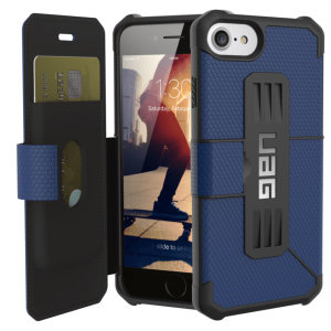 Coque iPhone 7 UAG Metropolis Rugged Wallet Portefeuille – Bleue