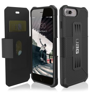 Coque iPhone 7 Plus UAG Metropolis Rugged Wallet Portefeuille – Noire