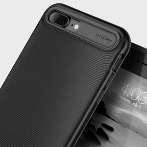 Made from rugged TPU and tough polycarbonate and featuring a stunning waved grip design, the Wavelength Series tough case in matte black keeps your iPhone 7 Plus safe, slim and stylish.
