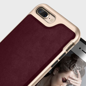 Funda Caseology Envoy iPhone 7 Plus - Tipo cuero cereza