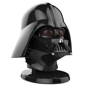 A detailed and almost life-sized head of the legendary dark lord of the Sith. Enjoy great sound and great times with the Star Wars Darth Vader Bluetooth speaker. With light up eyes, voice and awesome sound - the force is strong with this one.