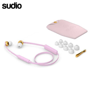 Ecouteurs Bluetooth intra auriculaire Sudio VASA BLA – Rose / Or Rose
