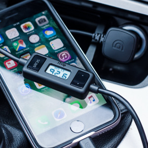Send music, calls and other audio to your car speakers from your iPhone, iPod or iPad with the Griffin iTrip FM Transmitter. The built-in 2.1A charger keeps your device topped up so you can keep using battery-intensive apps like GPS or streaming services.