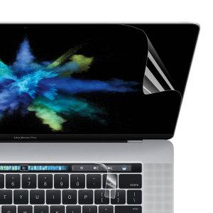 Keep your MacBook 15's main display and OLED Touch Bar in pristine condition with this Olixar scratch-resistant screen protector pack. The complete solution for protecting both your MacBook's display and the Touch Bar.