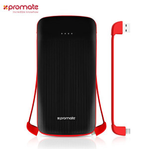 Bring your device back from the brink with the polyMax-UNI, the power bank with a colossal capacity from Promate. 10,000mAh of juice restores power to your smartphone or tablet, while 3 interchangeable connectors ensure virtually universal compatibility.