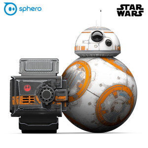 This is the droid you've been looking for! The Special Edition BB-8 from Sphero is an intelligent droid that listens, responds and features an adaptive personality to provide the most authentic Star Wars experience in the galaxy. Also includes Force Band.