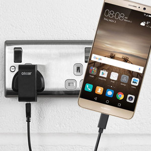 Charge your Huawei Mate 9 and any other USB device quickly and conveniently with this compatible 2.4A high power USB-C UK charging kit. Featuring a UK wall adapter and USB-C cable.
