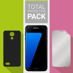 Guard your beautiful Samsung Galaxy S7 Edge from damage with the Olixar Total Protection Pack. Featuring an ultra-thin protective gel case and 2 ultra-responsive screen protectors, this pack provides the ultimate in lightweight protection.