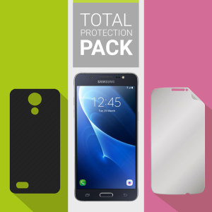 Guard your beautiful Samsung Galaxy J5 2016 from damage with the Olixar Total Protection Pack. Featuring an ultra-slim case and an ultra-response glass screen protector, this pack provides the ultimate in lightweight protection.