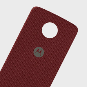 Official Motorola Moto Z Shell Nylon Fabric Back Cover - Red