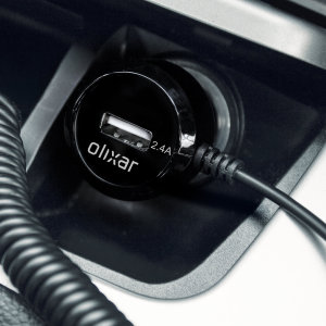 Keep your Micro USB devices fully charged on the road with this high power 4.8A total output  Micro USB car charger with extendable spiral cord design from Olixar. Plus, charge an additional USB device from the built-in USB port!
