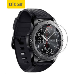 This ultra-thin tempered glass screen protector for the Samsung Gear S3 Frontier or Classic smartwatch from Olixar offers toughness, high visibility and sensitivity all in one package.