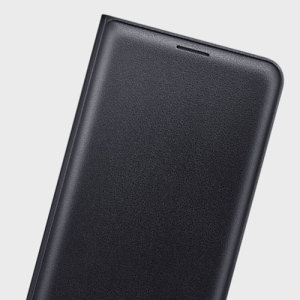 Protect your Samsung Galaxy J7 2016's back, sides and screen from harm while keeping your most vital cards close to hand with the official flip wallet cover in black from Samsung.