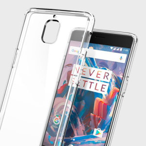 Protect your OnePlus 3T and OnePlus 3 with the unique Ultra Hybrid crystal clear bumper from Spigen. Complete with a clear back and air cushion technology to show of and protect your phone's sleek modern design.