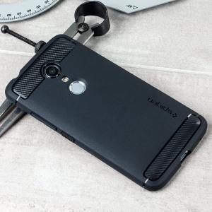 Treffen Sie die neu gestaltete robuste Hülle für das ZTE Axon 7 aus flexiblen, robusten TPU und mit einer mechanischen Konstruktion, einschließlich einer Kohlenstofffaserbeschaffenheit, die Ihr Handy sicher und schlank hält bon Spigen.