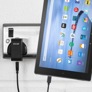 Charge your Amazon Fire HD 6 / 7 / 8 / 10 quickly and conveniently with this compatible 2.4A high power charging kit. Featuring mains adapter and USB cable.