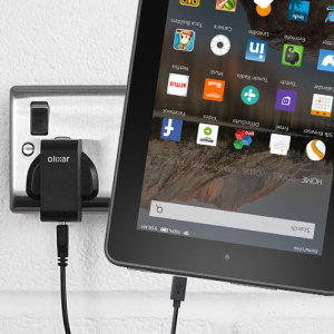 Charge your Amazon Fire 7 quickly and conveniently with this compatible 2.5A high power charging kit. Featuring mains adapter and USB cable.