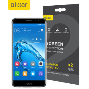 Keep your Huawei Nova Plus screen in pristine condition with this Olixar scratch-resistant screen protector 2-in-1 pack.