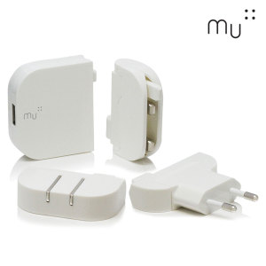 MU System Worldwide Traveller USB Mains Charger 2.4A - White