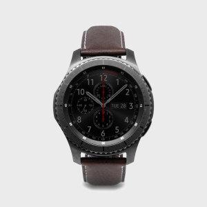 Emportez votre Samsung Gear S3 avec élégance et sécurité à l'aide du bracelet SLG D6 Minerva Box en cuir, coloris marron. Confortable, à la mode et parfaitement adapté à votre montre connectée Samsung Gear S3, ce bracelet apporte un véritable «plus» à votre smartwatch.