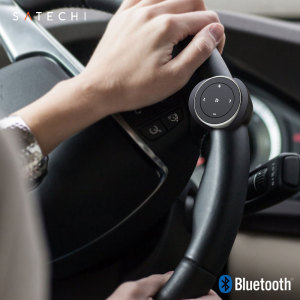 This ultra-compact wireless media remote from Satechi attaches to your steering wheel with a sturdy mounting mechanism, allowing you to control every aspect of your music - including playback, volume and skip - without taking your eyes off the road.