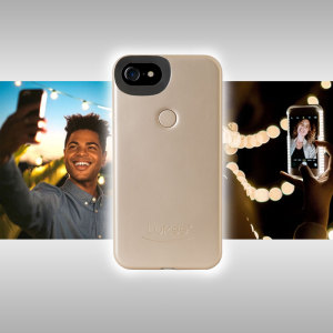 Introducing the newly designed Lumee Two in gold case for iPhone 7 / 6S / 6. Moving on from the original, this new design is brighter and slimmer, meaning you can take even better selfies.